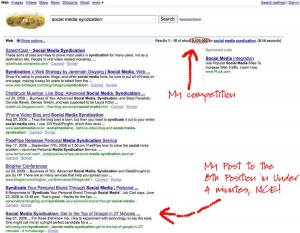 Social Media Syndication - Post Publish Results
